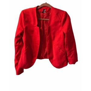 Divided by H&M Women's Red Long-Sleeved Blazer 8